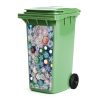 1 container plastic 1