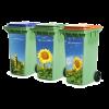 20180420 3 containers zonnebloemen